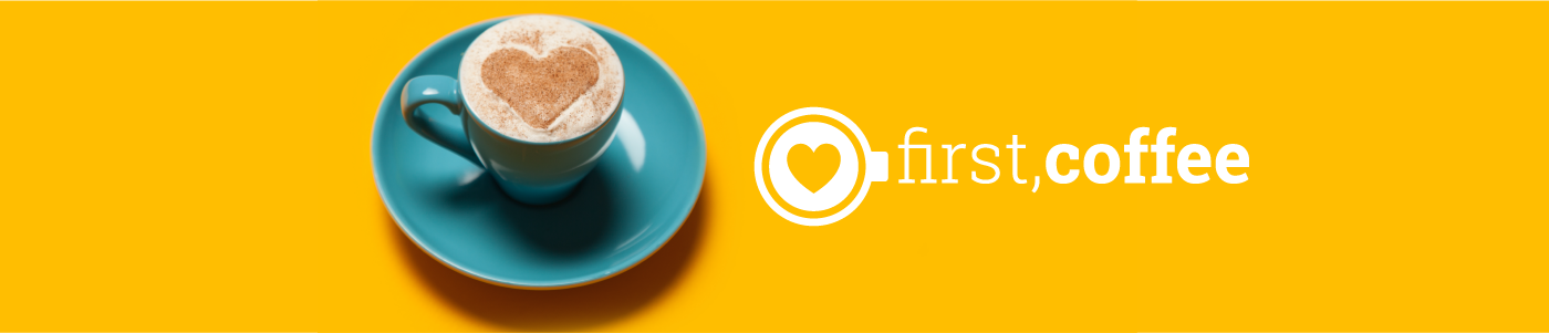 first, coffee logo
